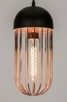 pendant light 72231 rustic modern metal black matt copper red copper round
