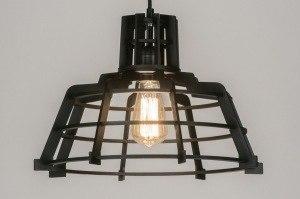 hanglamp 72232 modern landelijk rustiek design industrie look hout hout licht hout rond