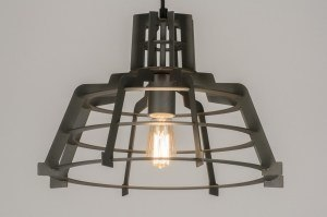 Pendant lamp 72235: modern, contemporary classical, industrial look, raw
