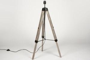 vloerlamp 72237 modern eigentijds klassiek landelijk rustiek retro industrie look hout hout rond