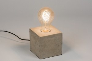 table lamp 72240 industrial look rustic modern raw concrete concrete gray round