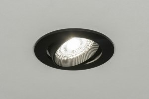 recessed spotlight 72245 modern metal black matt round