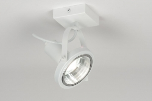 spotlight 72246 modern metal white matt round