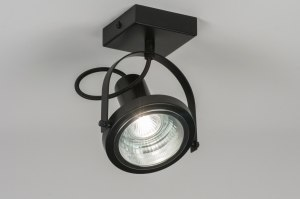 spotlight 72248 modern metal black matt round