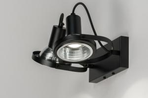 plafondlamp 72249 industrie look modern metaal zwart mat rond langwerpig