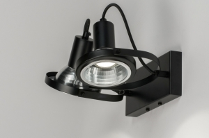 Foco 72249 Aspecto industrial Moderno Metal Negro Mate Redonda Oblongo