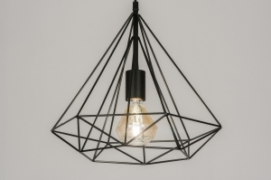 Pendant lamp 72265: modern, contemporary classical, rustic, black