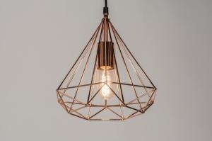 Pendant lamp 72268: modern, contemporary classical, rustic, copper