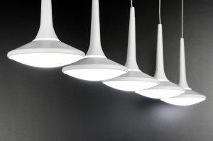 hanglamp 72299 design landelijk rustiek modern metaal wit mat langwerpig