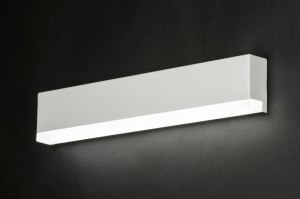 wall lamp 72302 sale designer modern metal white matt oblong rectangular