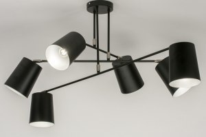 ceiling lamp 72310 modern metal black matt