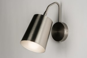 wall lamp 72322 modern stainless steel metal steel gray