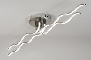 plafondlamp 72328 design landelijk rustiek modern staal rvs staalgrijs langwerpig