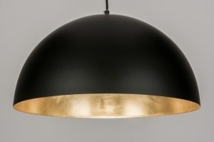 pendant light 72345 rustic modern contemporary classical metal black matt gold round