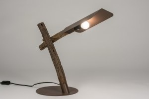 table lamp 72348 sale designer rustic modern raw wood dark wood brown
