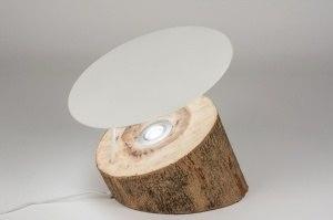 vloerlamp 72349 modern eigentijds klassiek landelijk rustiek design hout wit mat hout licht hout rond