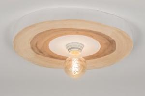 Ceiling lamp 72352: modern, rustic, raw, wood