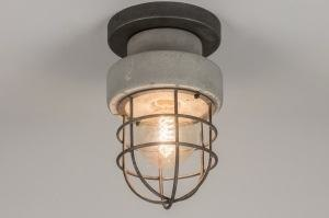 ceiling lamp 72378 sale industrial look rustic modern raw retro concrete concrete gray round