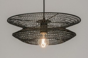 pendant light 72386 sale rustic modern metal black round