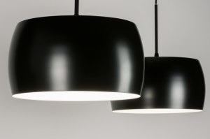 pendant light 72399 designer modern retro aluminium metal black matt round oblong