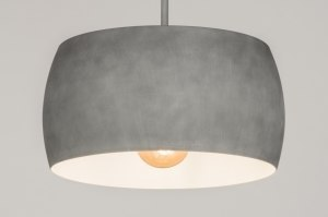 hanglamp 72401 modern aluminium metaal betongrijs rond