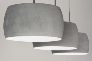 pendant light 72402 rustic modern aluminium metal concrete gray oblong