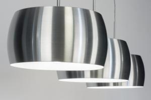 hanglamp 72403 modern aluminium geschuurd aluminium metaal aluminium langwerpig