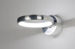 Wandleuchte 72406 Design modern Aluminium Metall Silber rund