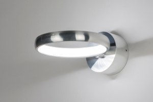 wandlamp 72406 design modern aluminium metaal zilvergrijs rond