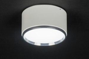 plafondlamp 72409 modern design wit mat aluminium metaal rond