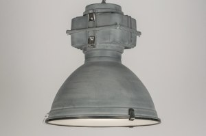 pendant light 72412 sale industrial look modern aluminium metal grey concrete gray zinc round