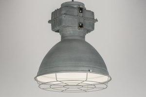 hanglamp 72413 sale industrie look modern aluminium metaal betongrijs zink rond