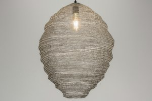 hanglamp 72451 modern landelijk rustiek stoer raw staalgrijs metaal staal rvs ovaal