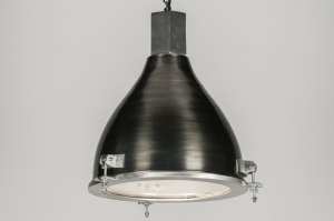 suspension 72455 look industriel moderne lampes costauds aluminium acier gunmetal oldmetal