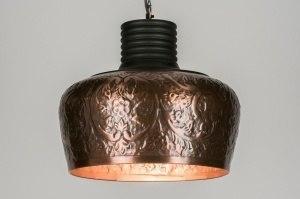 hanglamp 72456 landelijk rustiek modern eigentijds klassiek metaal roodkoper