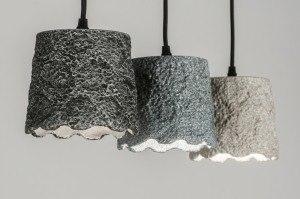 hanglamp 72461 sale modern landelijk rustiek stoer raw antraciet donkergrijs beige betongrijs beton langwerpig