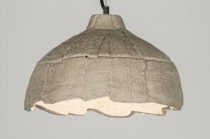 suspension 72462 soldes rural rustique lampes costauds beton gris beton rond