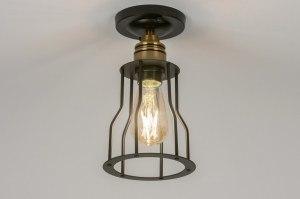 plafondlamp 72469 modern eigentijds klassiek landelijk rustiek industrie look zwart metaal