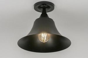 plafondlamp 72470 modern eigentijds klassiek landelijk rustiek zwart mat metaal