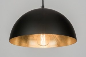 pendant light 72495 rustic modern contemporary classical metal black matt gold round