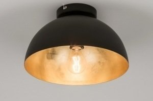 ceiling lamp 72496 rustic modern contemporary classical metal black matt gold round