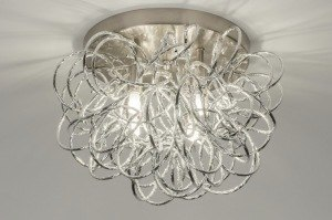 plafondlamp 72500 modern aluminium aluminium metaal staal rvs rond