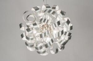 hanglamp 72502 modern eigentijds klassiek design aluminium aluminium metaal rond