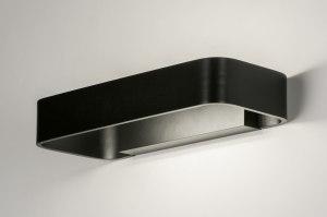 wandlamp 72516 modern design zwart mat aluminium metaal langwerpig