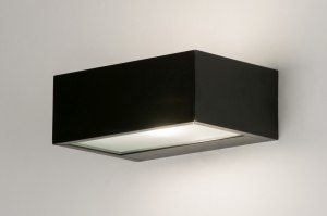 wall lamp 72518 modern aluminium black matt rectangular