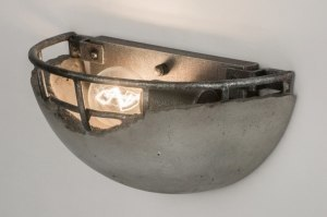 wall lamp 72545 industrial look rustic contemporary classical concrete metal concrete gray