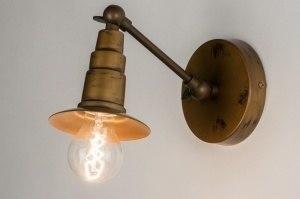 plafondlamp 72547 landelijk rustiek klassiek eigentijds klassiek metaal goud brons messing