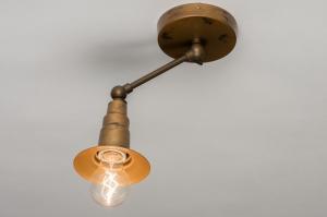 plafonnier 72547 rural rustique classique classique contemporain acier or bronze brun rouille cuivre jaune mat