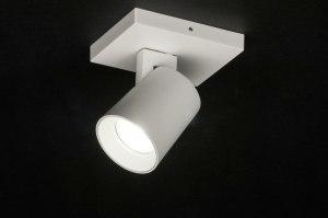 spot 72566 design modern aluminium metaal wit mat
