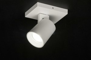plafondlamp 72566 modern design wit mat aluminium metaal